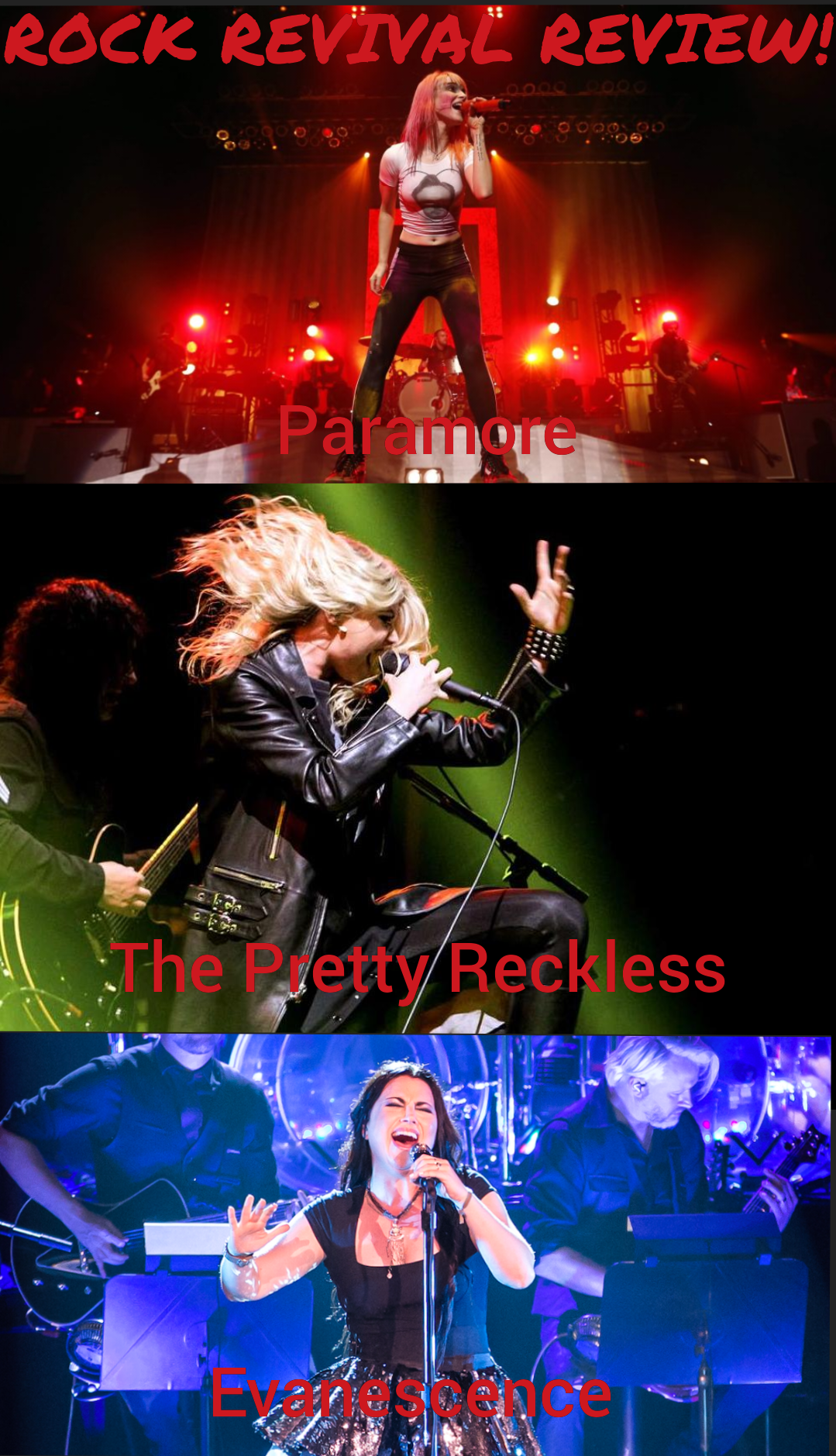 Rock Revival Review: Paramore, The Pretty Reckless & Evanescence