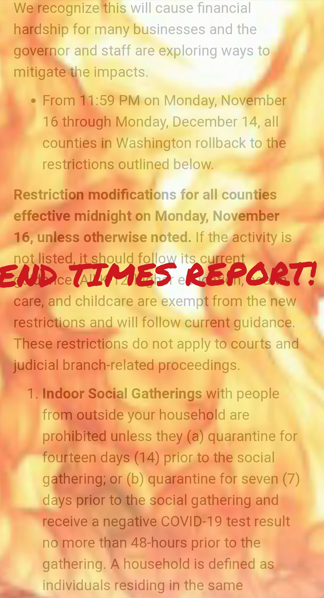 End Times Report: Let Em Burn