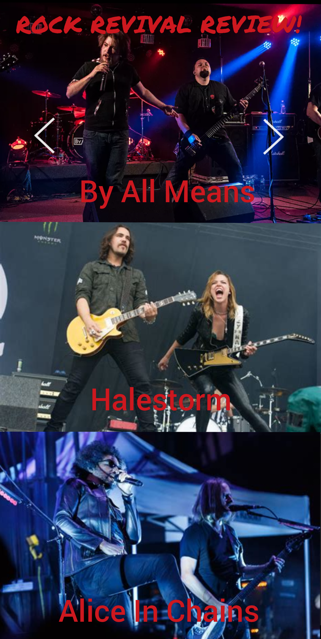 Rock Revival Review: By All Means, Halestorm & Alice In Chains