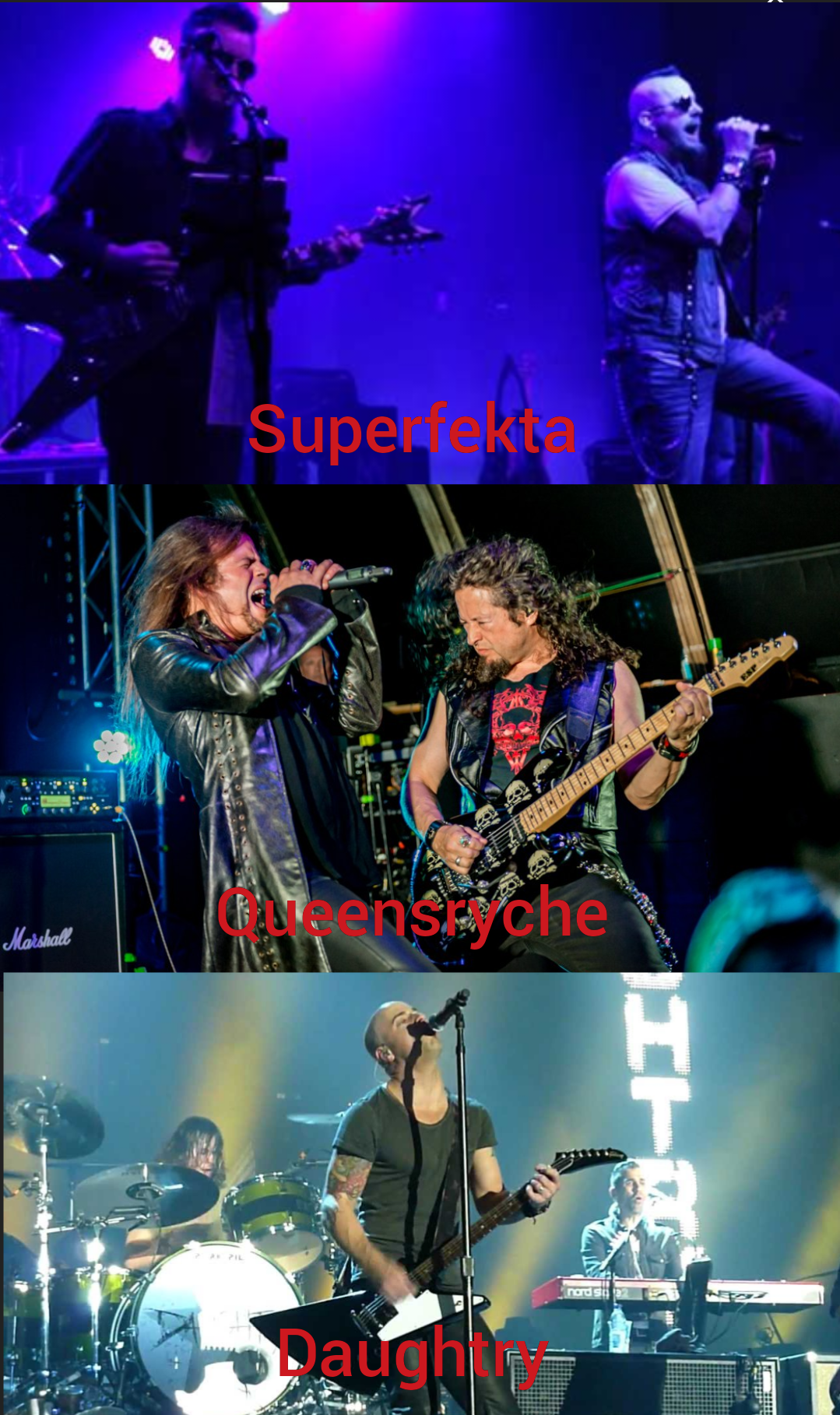 Rock Revival Review: Superfekta, Queensryche and Daughtry