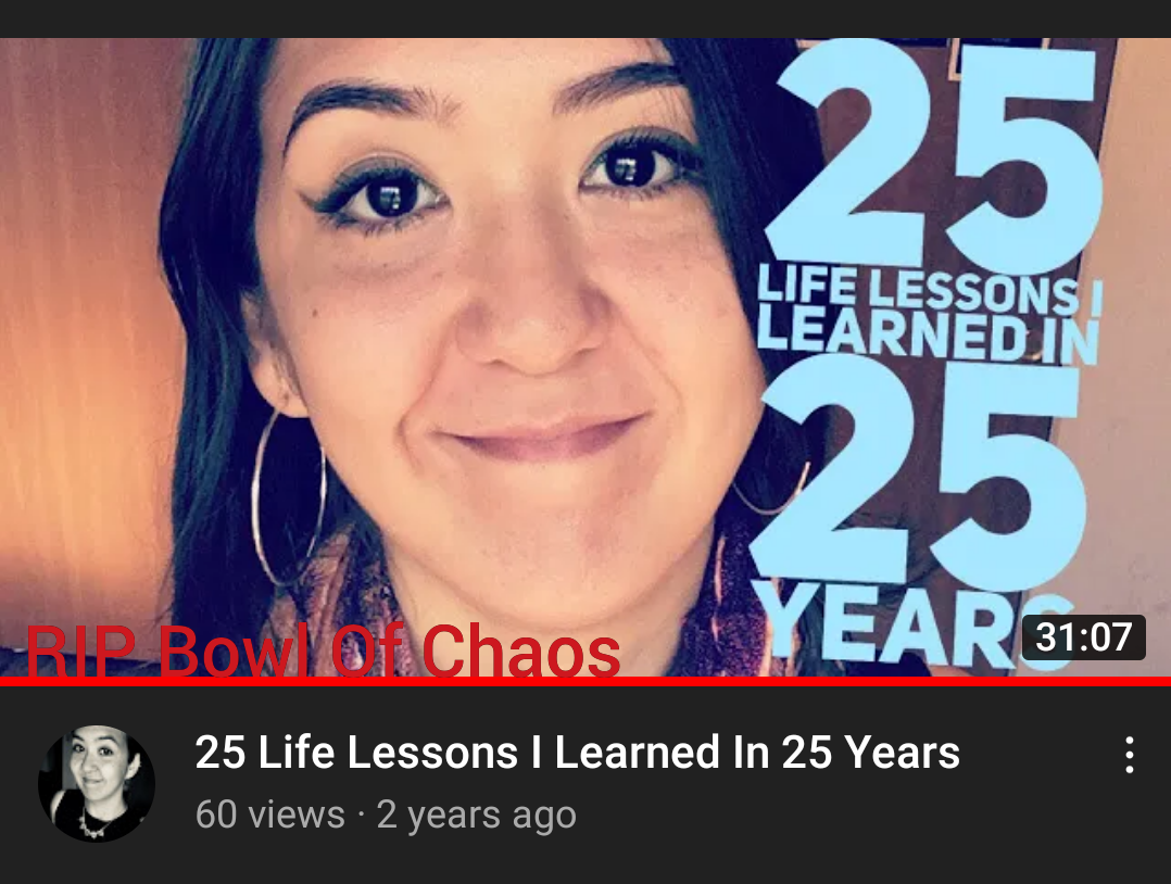 Goodbye, Bowl Of Chaos