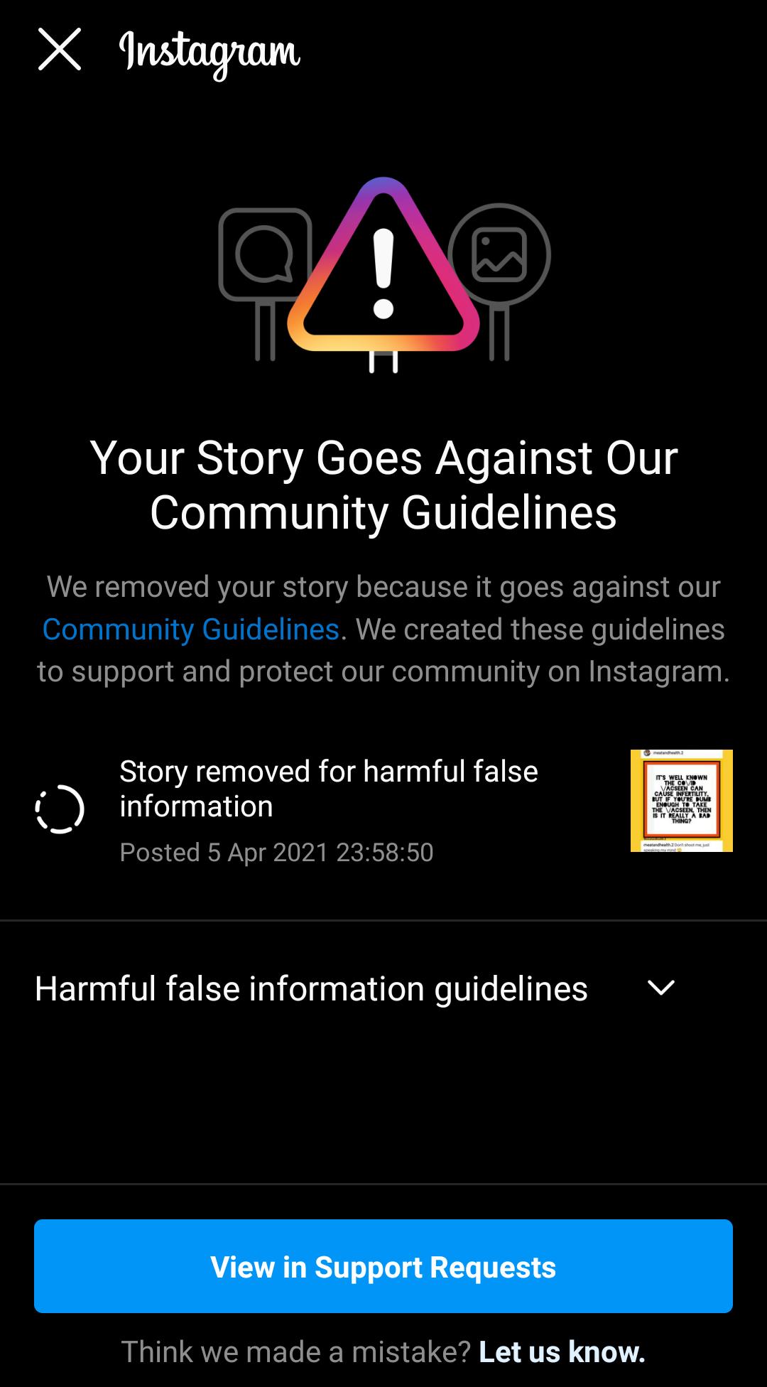 Deleted Retard Remover Instagram Story